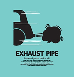Cars exhaust pipe vector