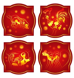 Chinese animals horoscope set vector