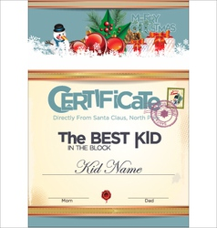 Certificate best kid in the block vector