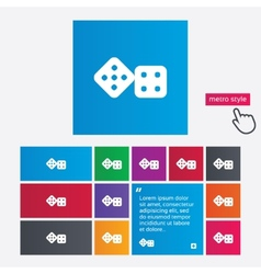 Dices sign icon casino game symbol vector