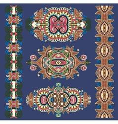 Ornamental ethnik decorative floral adornment vector
