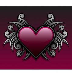 Gothic heart design vector