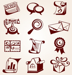 Icons for web sites vector