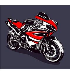 Red sport motorbike vector