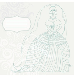 Bride card vector