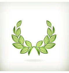 Laurel wreath green award vector