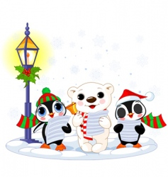 Christmas caroler vector