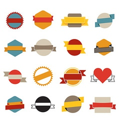 Retro flat banners template collection vector