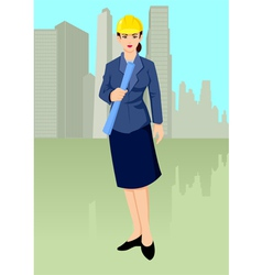 Woman architect vector