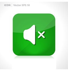 Sound off - mute icon vector