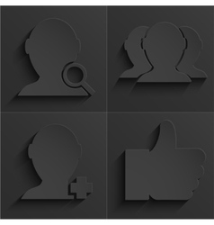 Modern social network icons set vector