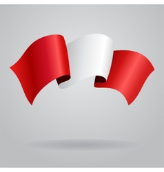 Peruvian waving flag vector