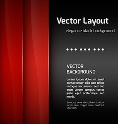 Red layout vector
