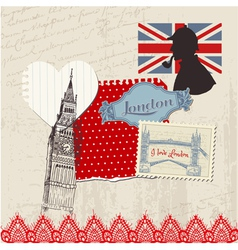 Scrapbook design elements - london vintage set vector