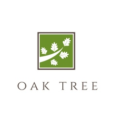 Oak tree icon vector