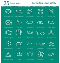 Car interface icons set vector