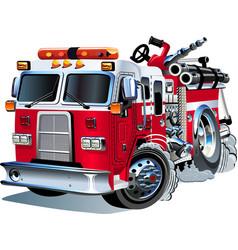 Cartoon fire truck vector