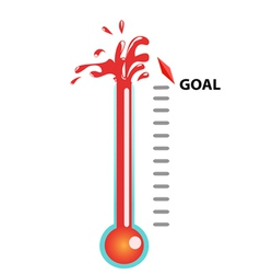 Goal thermometer vector