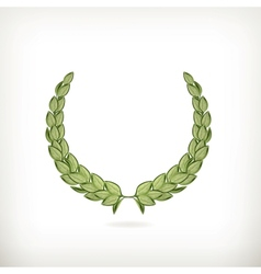 Laurel wreath green vector