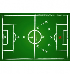 Football positions teamwork vector