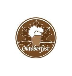Brown oktoberfest stamp vector