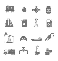 Oil industry gasoline processing symbols icons set vector