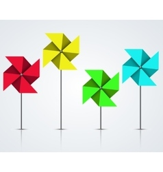 Modern colorful windmill set vector