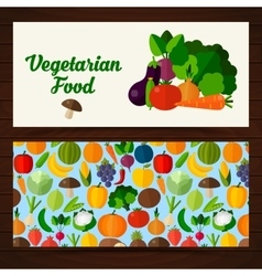 Food banners in flat style vector