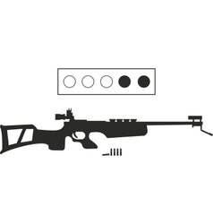 Biathlon equipment vector