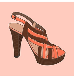 Fashion shoes peach vector