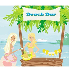 Bar on the beach vector