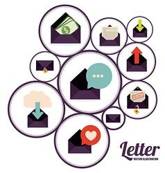 Letter design vector