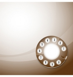 Telephone disk background vector