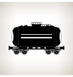 Silhouette tank car on a light background vector