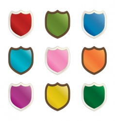 Decorative shields vector