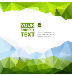 Frame from triangle abstract background with text vector