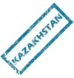 Kazakhstan rubber stamp vector
