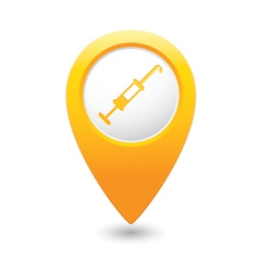Hospital icon pointer yellow vector
