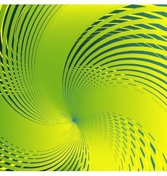 Abstract spiral green background vector