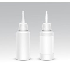Spray bottle white plastic packaging container set vector
