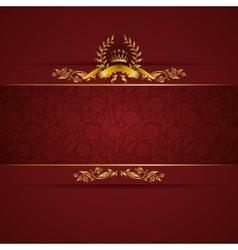 Elegant golden frame banner vector