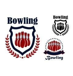 Bowling sports game graphic emblem vector