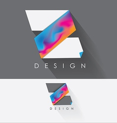 Letter z colorful design element for business vector