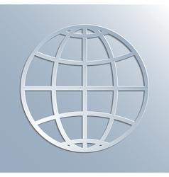 Earth symbol icon vector