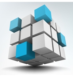 3d cubes on white vector