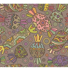 Cute seamless pattern with colorful sweets vector