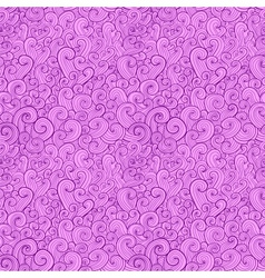 Abstract curly shapes seamless pattern vector