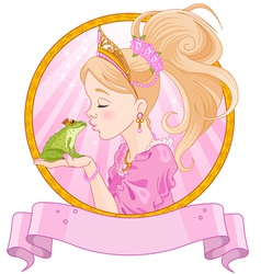 Princess and frog vector