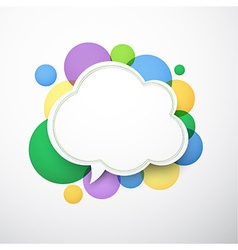 White cloud speech bubble vector