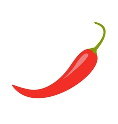 Hot red chili jalapeno pepper icon isolated vector